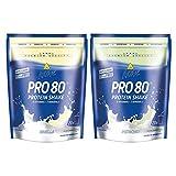 Inkospor Active Proteinshake Pro 80 Beutel 2er Mix Pack (2 x 500 g) Vanille/Pistazie, 1er Pack (1 x 1 kg)
