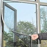 Insekten Moskitonetz abnehmbar und waschbar Fenster Insektenschutz Netz mit Klebeband für Tür Fenster, Insektenschutz, schwarz