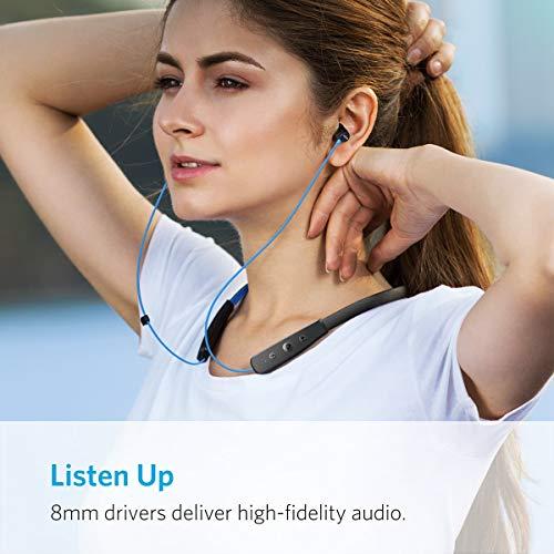 Anker SoundBuds Lite Bluetooth Kopfhörer, Leichtes Nackenband Headset, IPX5 Wasserfestes Sport In-Ear-Headset mit Geräuschreduzierung und In-Line Mikrofon (Blau) - 6