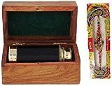 Artshai Festiwal Offer 6 inch Telescope with sheesham Wooden Box+1 Designer Rakhi Free Excellent Gifting Item