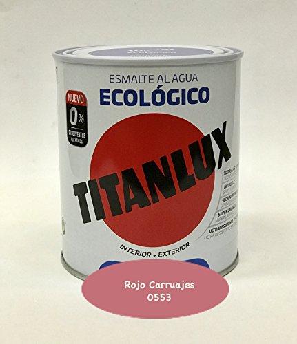 Titanlux - Esmalte Ecológico Acrílico Satinado Titan 750 ml (Rojo Ca