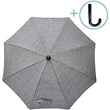 UNIVERSAL Sonnenschirm Schirm für alle Kinderwagen Ø68cm UV50 SCHUTZ ROSA//GRAU