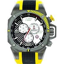 Techno deportiva para hombre Chrono reloj - negro