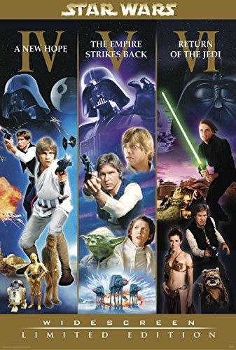 Star Wars Poster Widescreen Limited Edition (68,5cm x 101,5cm) + weiße Geschenkverpackung. Verschenkfertig!