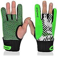 Bolos guantes derecho mano izquierda muñeca guantes de apoyo con silicona antideslizante para deporte fitness gimnasio, color verde, tamaño Large