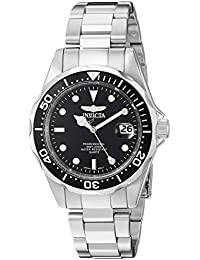 Invicta Pro Diver Unisex Wrist Watch Stainless Steel Quartz Black Dial - 8932