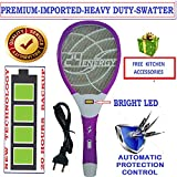 VICTORY Mosquito Racket with Hi-Power Shock for Big Insect (White)