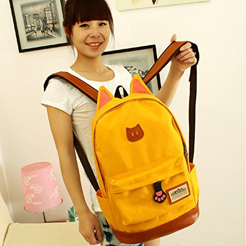 TianranRT ,  Unisex-Kinder Mädchen Jungen Rucksackhandtaschen Gelb