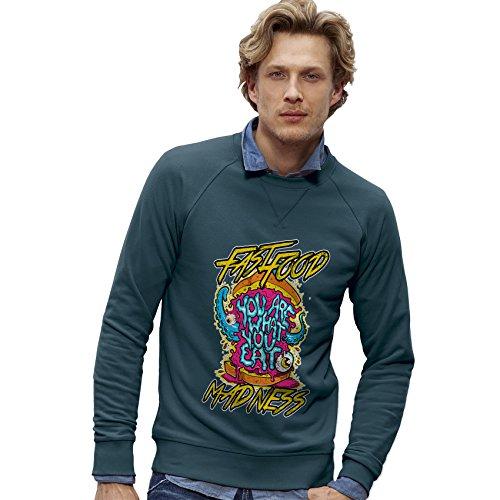 TWISTED ENVY Herren das Sweatshirt Fast Food Madness Print X-Large Stargazer