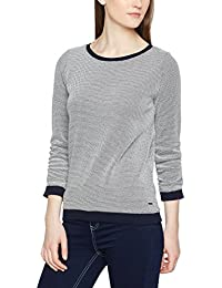 Tom Tailor Denim W.Do and Gathering, Sweat-Shirt Femme