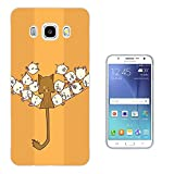 003632 - Kawaii Funny Cat Birds On A Wire Design Samsung