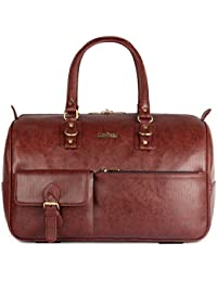 The Clownfish 34 Liters Unisex Vegan Leather |Travel Duffel Bag|Travelling Bag|Travel Bag|Weekender Bag