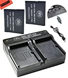 Big Mike'sBM Premium 2 NP BN1 Batteries and Dual Charger for Sony CyberShot DSC QX10 QX30 QX100 WX5 WX9 WX50 WX70 WX150 W560 W570 W610 W620 W650 W690 W800 W830 TX10 TX20 TX30 TX66 Camera