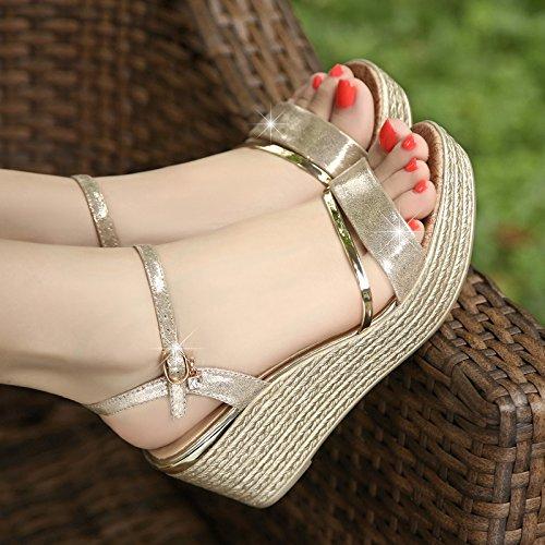 ZPPZZP Presidente, sandali, Paju, estate, a tacco alto, dolce, stile minimalista e di spessore 37EU