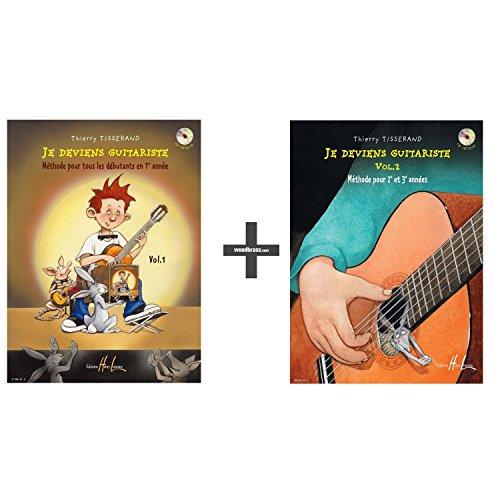 Méthodes et pédagogie LEMOINE TISSERAND THIERRY - JE DEVIENS GUITARISTE VOL.1 + VOL.2 Guitare acoustique