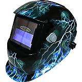 Leopard LEO-WH86 Funciona con Energía Solar + Oscurecimiento Automático + Función De Rectificado + 9-13 Sombra Máscara De Casco De Soldadura con 5 Len