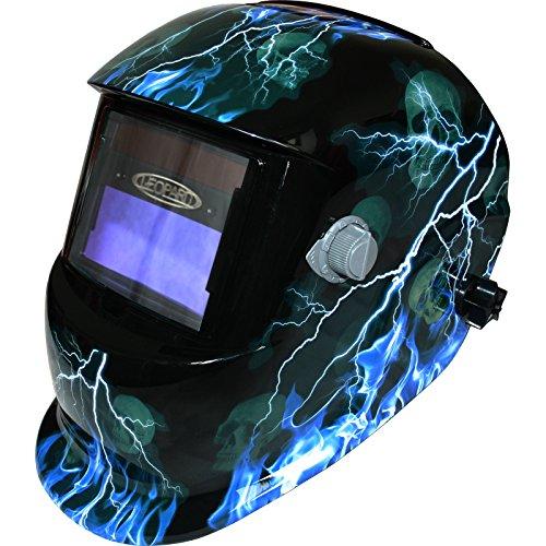 Leopard Solar & Battery Powered Auto Darking + Grinding Function Welding Helmet Mask Safety Gear - #11 Lightening Test