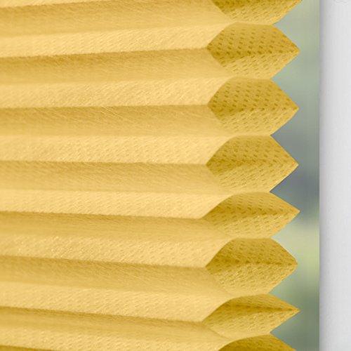 Lichtblick TPK.090.130.26 Plissee Klemmfix, Thermo, ohne Bohren – Gelb 90 cm x 130 cm (B x L) - 6