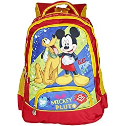 Disney School Bag For Boys & Girls 07+ Years Mickey Pluto 21 Liter Red (Dm-0007)