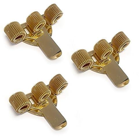 Triple en métal Pen Holder avec clip de poche–Idéal pour médecins/infirmières/pilotes–[lot de