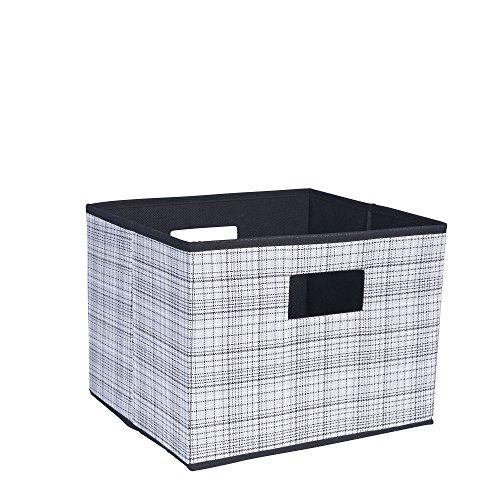 Haushalt Essentials 621Open Lagerplatz mit Ausschnitt Griffe (Leinwand-storage-würfel)