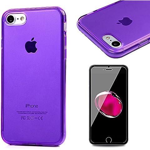 iPhone 7 Funda Silicona Transparente Gel TPU Ultra Slim Bumper Shock-Absorción - Mavis's Diary Carcasa Suave Case Parachoques Choque Absorción y Anti-Arañazos para Cover iPhone 7 4.7