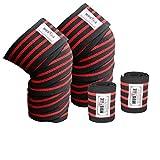 Muslke Alive Kniebandagen für Gewichtheben, 1 Paar, Set für Cross-Training, Powerlifting,...