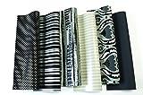 6 Rollen Black & White Geschenkpapier je Rolle 0,70 x 2 Meter