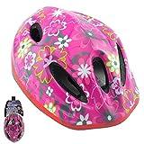 Kinder Fahrrad Helm für Fahrrad, Pink Flower, 1 Stück