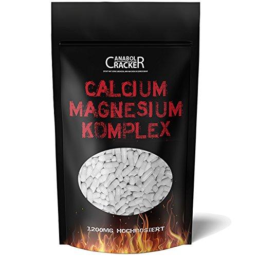 600 Tabletten - Calcium & Magnesium Komplex, 1200mg Hochdosiert / Tagesportion, 100% rein und für Veganer geeignet, Kalzium - Gliederschmerzen - Knochen, Gelenke, Blut und Zähne