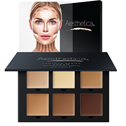Aesthetica Cosmetics Cream Contour und Highlighting Makeup Kit - Kontur-Foundation / Concealer-Palette - Vegan, ohne Tierversuche und hypoallergen - Schritt-für-Schritt-Anleitung inklusive