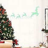 Zolimx Weihnachten Glow Pine Wandaufkleber Wohnzimmer Leuchtenden Aufkleber Fenster Dekor Christmas Tapete