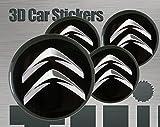 Adhesivos 3D 4 pzs. Imitación Todo tamaño Tapa central Tapas de rueda (56 mm)
