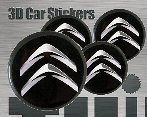 Think Ink Adesivi 3D Stickers 4 Pezzi Logo Imitazione Tutte Le Dimensioni Centro cap Wheel Coprimozzo (30 mm)