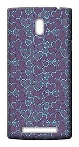 Mott2 Back Case for Oppo Find 7 | Oppo Find 7Back Cover | Oppo Find 7 Back Case - Printed Designer Hard Plastic Case - love theme