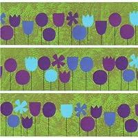 Nastro adesivo decorativo mt ex Washi verde con fiori