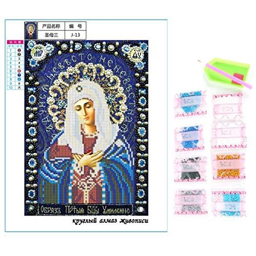 5D Completo Perforado DIY Figuras Religiosas Patrón Pintura Diamante Punto de Cruz Artesanía Casa Decoración de Pared Pintura Mezclado