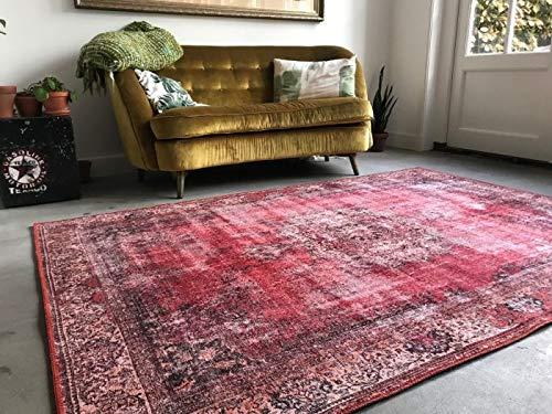 Rozen Kelim Alfombra Vintage–Rojo–Orient–Alfombra