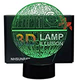 3D Lampes Illusions Optiques NHsunray 7 couleurs Changement Tactile Interrupteur Lumière De Nuit Art Déco Faites Une Romantique Dans La Chambre D'enfants Salon Bar Café Restaurant (Étoile de la mort)