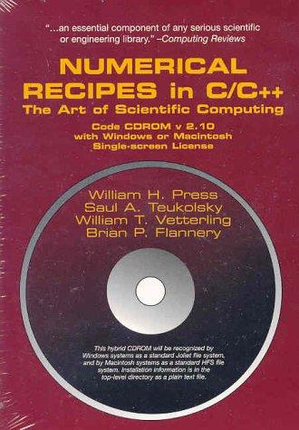 Preisvergleich Produktbild Numerical Recipes in C,  1 CD-ROM