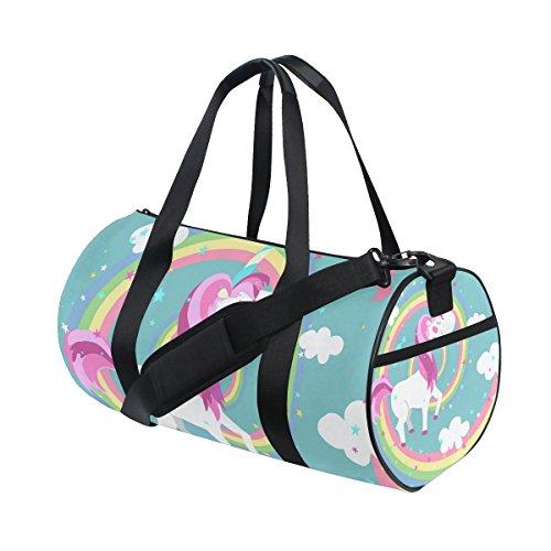 ISAOA - Bolsa de Deporte Ligera con Diseño de Unicornio en Arco...