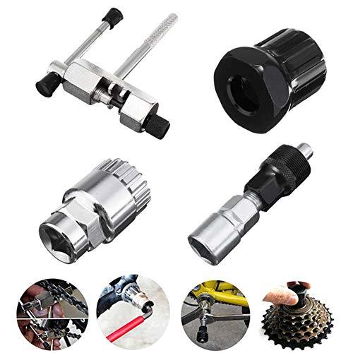 Explopur Kit de Herramientas de reparación de Bicicletas - Extractor de manivela Interruptor de Cadena...