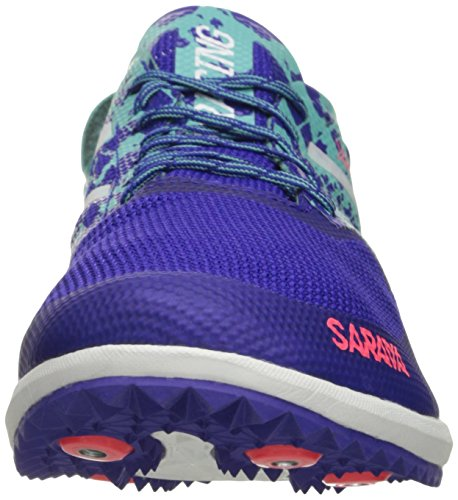 New Balance Women's 5000v3 Track Spike Running Shoe, Blue/Green, 10 B US Blue/Green
