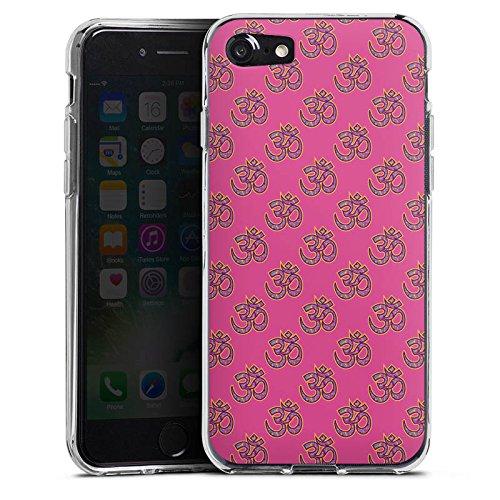 Apple iPhone X Silikon Hülle Case Schutzhülle Indisch Muster Pink Silikon Case transparent