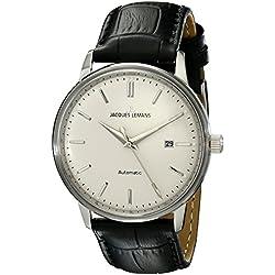 Jacques Lemans Nostalgie Gents Automatic Black Leather Strap Watch N-206A