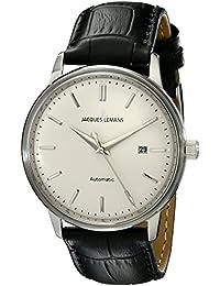 Jacques Lemans Unisex-Armbanduhr Jacques Lemans Nostalgie Analog Automatik Leder N-206A
