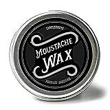 Charlemagne Premium Moustache Wax - Schnurrbart Wachs - Aus echtem Bienenwachs & Kokosbutter - Natürliche Inhaltsstoffe -