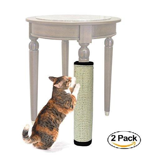 Ducomi® - Alfombra rascador Felis Gattus, de cuerda de sisal natural, ideal para patas de mesa y muebles, estimula la curiosidad y el interés del gato, 40x 30cm