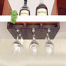 CLOTHES UK- Cremagliera per bicchieri da vino rende le cucine o il bar non adatti ai bicchieri 3-12 sotto il mobiletto Wine rack ( dimensioni : 39x25cm )