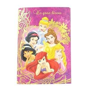 Carterie Carte d'anniversaire avec bruitage : Princesses Disney